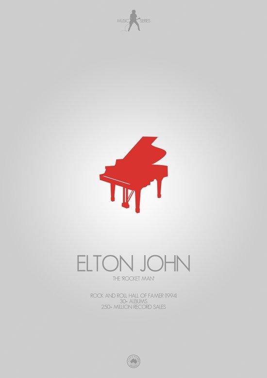 Musician Series - Elton John Art Print
