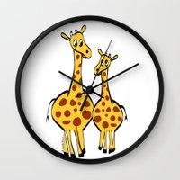 Two Giraffes Wall Clock