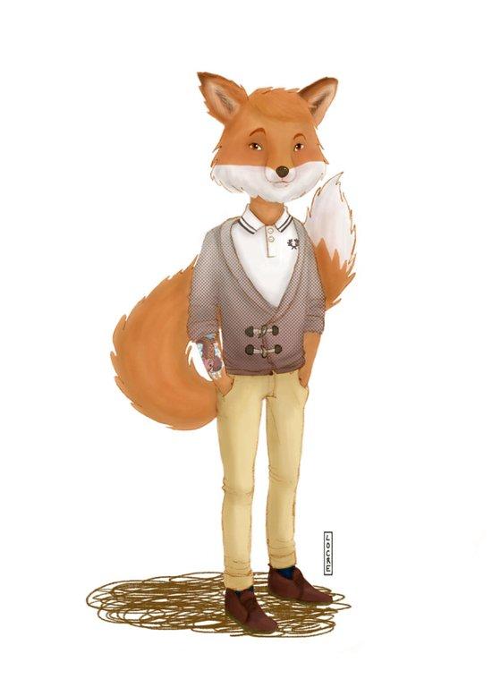 A foxy gentleman Art Print