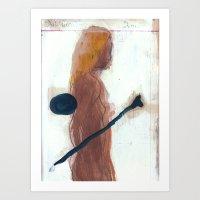 woman and bone Art Print