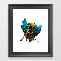 Zombie Wolverine Framed Art Print