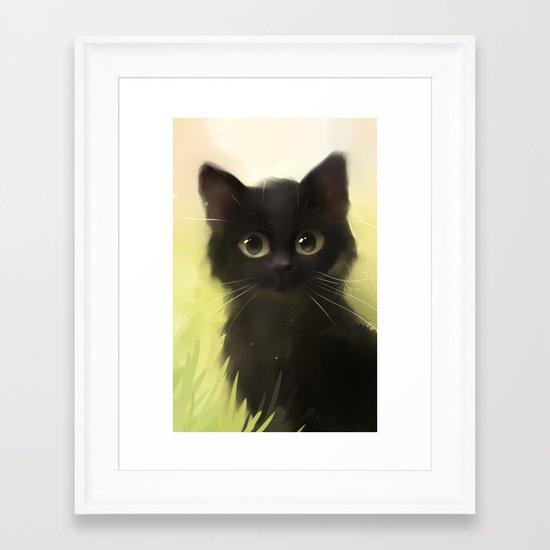 Savage Cat Framed Art Print