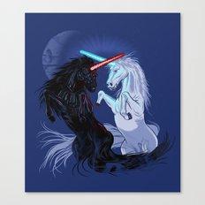 Starwars with Unicorns  Canvas Print