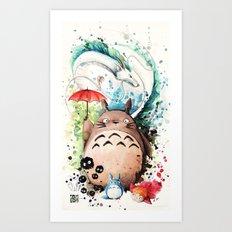 Tribute To Ghibli : The … Art Print