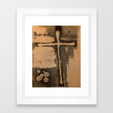 Trinty and the Cross Framed Art Print