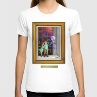 The Hands Can't Resist Him Womens Fitted Tee White SMALL