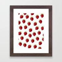 Strawberries Framed Art Print