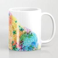 Rainbow Mandala Cloud Mug