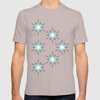 Abstract Snowflake Mens Fitted Tee Cinder SMALL
