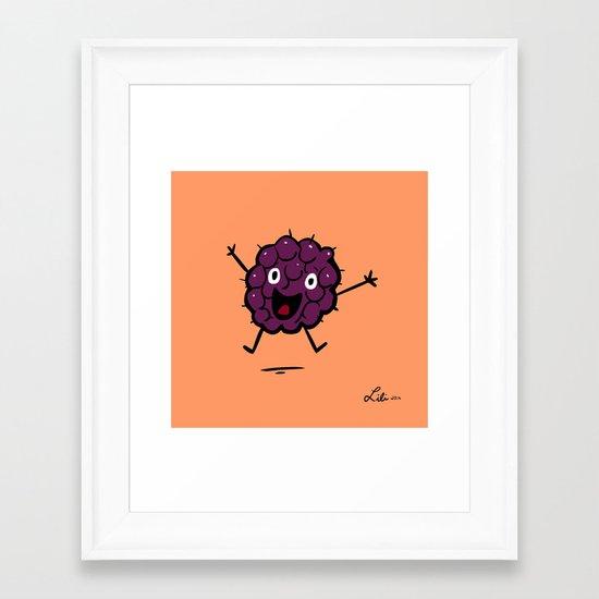 Blackberry Framed Art Print