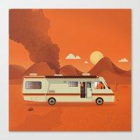 Breaking Van Canvas Print