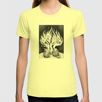 Escape Womens Fitted Tee Lemon SMALL
