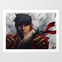 Ryu Focused  Art Print