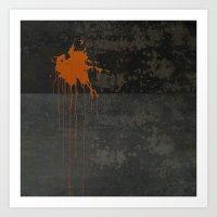 Spot Orange Art Print