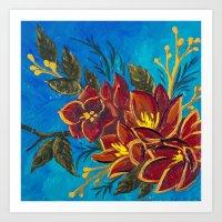 Amorous Amaryllis Art Print