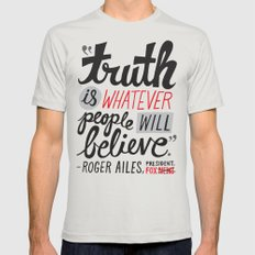 Fox News And Truth Mens Fitted Tee Silver SMALL