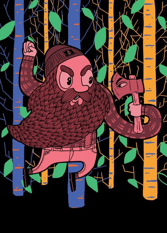 The Lumberjack Art Print