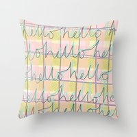 Hello Hello Throw Pillow