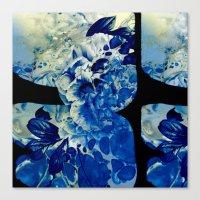 hidden blue peony Canvas Print