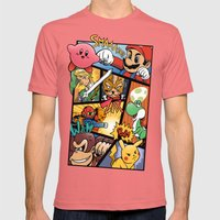 Dairanto Smash Bros Mens Fitted Tee Pomegranate SMALL