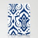 Ikat Damask Navy Stationery Cards
