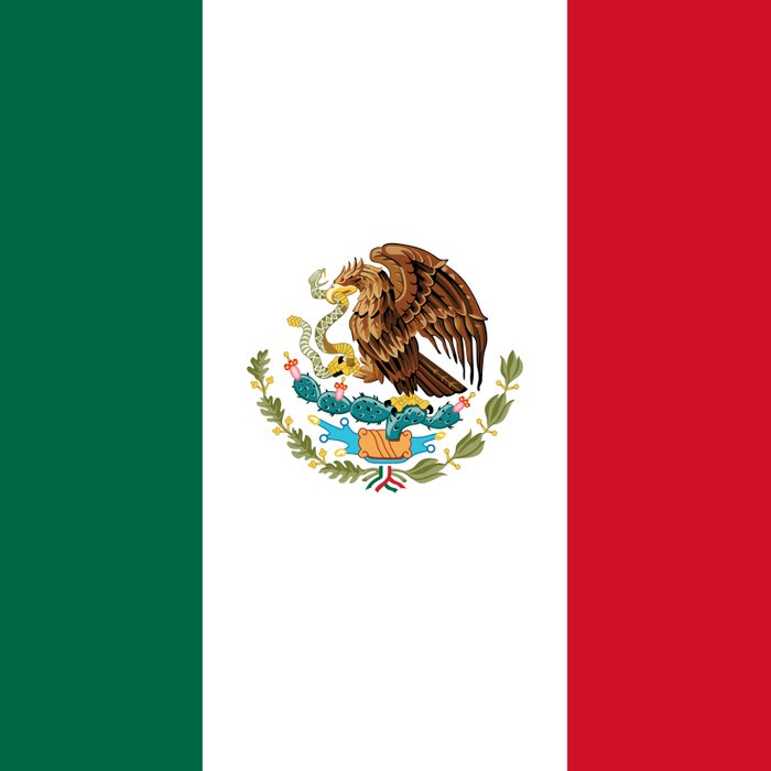 The National Flag Of Mexico Officially The Flag Of The