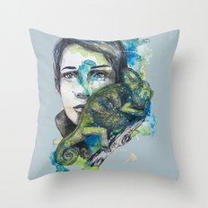cameleon by carographic Throw Pillow