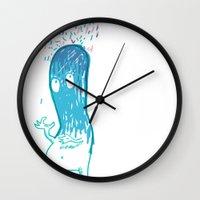 002_rain Wall Clock