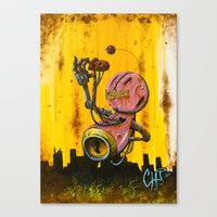 A pink robot for Akira Canvas Print