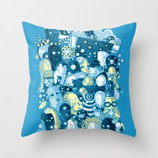 Under my bed Throw Pillow