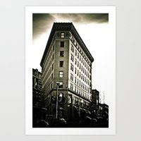 Asheville Building In Bl… Art Print