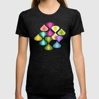 Candy Gouttelette Womens Fitted Tee Tri-Black SMALL