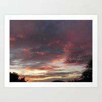 Caribbean Sunset II Art Print