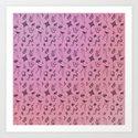 Spoopy Pattern Art Print
