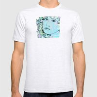 Butterfly Girl  - JUSTART © Mens Fitted Tee Ash Grey SMALL