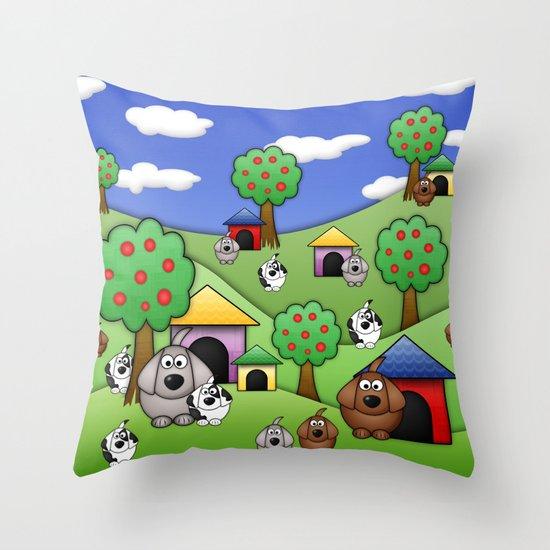 Billy, Bob & Fido.  Throw Pillow