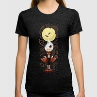 Time Traveler Womens Fitted Tee Tri-Black SMALL