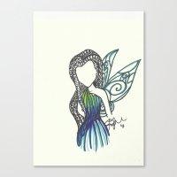 Silvermist Zen Tangle Canvas Print
