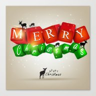 Merry Christmas 3D With … Canvas Print