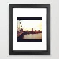 Hennepin Ave Bridge Framed Art Print