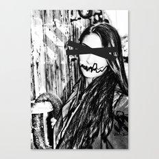 black and white eyes Canvas Print