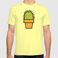 Cactus Mens Fitted Tee Lemon SMALL