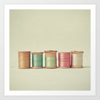 Five In A Row Art Print