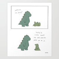 Tickle  Art Print