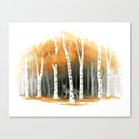 Autumn Wolf Canvas Print