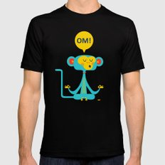 OM! Monkey SMALL Black Mens Fitted Tee