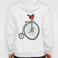 bird on a bicycle. Hoody