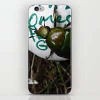 The Beetle. [INSECTS] [GREEN BEETLE] [INSECT] [BEETLE] iPhone & iPod Skin