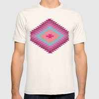 FIESTA (pink) Mens Fitted Tee Natural SMALL