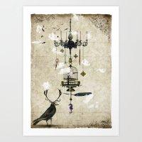 The Crow's Treasures Art Print